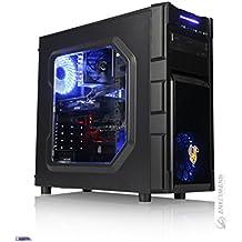 Ankermann-PC GAMING PC, 24 meses de garantía, Intel i7 7700 4x3.6Ghz, GeForce GTX 1050 Ti 4GB 4K, 8GB DDR4 2400, 240GB SSD, 1TB HDD, Windows 10 Pro, Silent, Cardreader