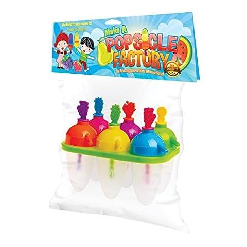 , Do It Yourself Fruit Popsicle passt sich begeistert alle Kinder Eis am Stiel-Maker, Lolli-Form für Süßigkeiten, Schokolade, Ice Cream Cake Pops ^eine Popsicle Factory.