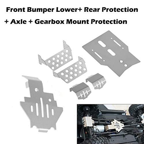 hahuha Toy  Dekompressionsspielzeug,6 Teile/Satz Frontstoßstange Lower + Axle + Gearbox Mount Protection Skid Plate für TRX4 Skid Mount