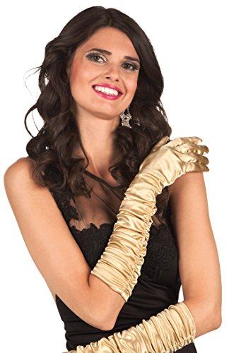 Boland 03144 - Handschuhe Hollywood, Einheitsgröße, gold