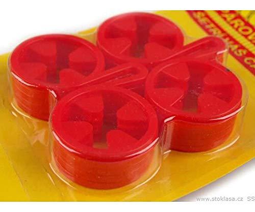 1karton 2 Aurora Red Sockenhalter 40x60mm, Schutz/Wartung Der Bekleidung, Ausstattung Vom Kurzwarengeschäft -