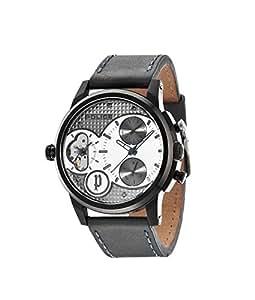 Police - 14376JSB/04 - Montre Homme - Quartz - Chronographe - Bracelet Cuir gris