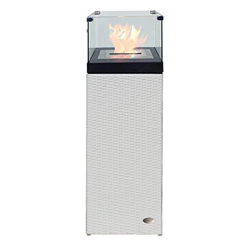 RS Trade Bio Ethanol Feuersäule Feuerschale Feuerstelle Feuerkorb Kamin Ofen für Garten und...