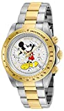 Invicta 25193 Disney Limited Edition Mickey Mouse Reloj Unisex acero inoxidable Cuarzo Esfera blanco