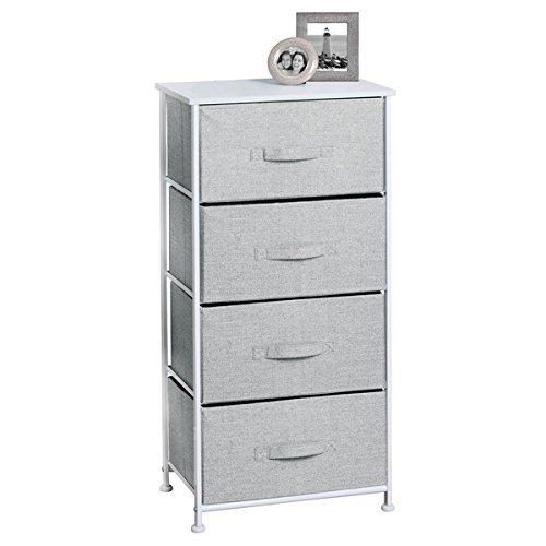 mDesign Textil-Kommode mit 4 Schubladen – universelles Aufbewahrungssystem für Schlafzimmer,...