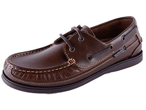 Footwear Sensation , Chaussures bateau pour homme Brown timonier de dentelle