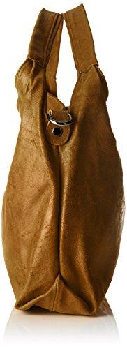 Chicca Borse 80053, Borsa a Tracolla Donna, 46 x 26 x 10 cm (W x H x L) Arancione (Cuoio)