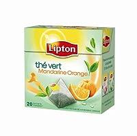 Lipton Thé Vert Mandarine Orange 20 Sachets 36 g