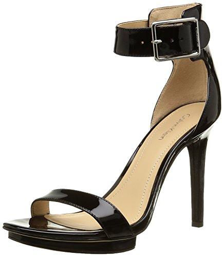 Calvin Klein  Vivian,  Damen Slingback Pumps , Schwarz - Schwarz - Noir (Blk/Glossy Patent) - Größe: 39