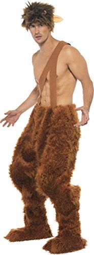 Smiffys, Herren Pan Kostüm, Hose, Überschuhe und Perücke, Größe: M, (Kostüm Pan Lo)