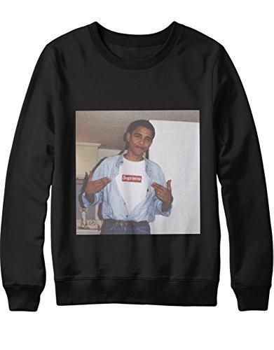 Sweatshirt Obama Wears Supreme H143012 Schwarz ()
