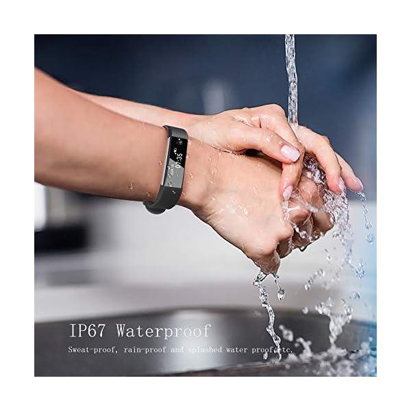 TOOBUR Reloj Inteligente para Mujer Hombre Niños, Pulsera Actividad con Cuenta Pasos y Calorias, Podómetro Smartwatch Impermeable IP67 con Monitor de Sueño y Despertador Vibrador 6