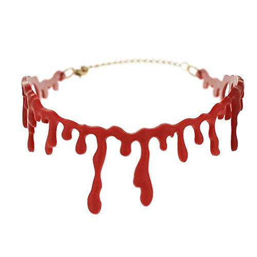 Vampir Zubehör Choker Kostüm - Yamer Halloween Kostüme Blood Drip Halskette Vampire Bloody Choker Halskette Scary für Halloween Kostüm Party Zubehör, 1PCS