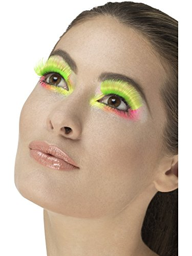 Fever Damen 80er Jahre Party Wimpern, Kleber inklusive, -