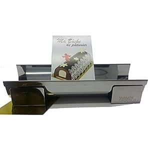 Daudignac - Moule à bûche de Noël inox avec insert