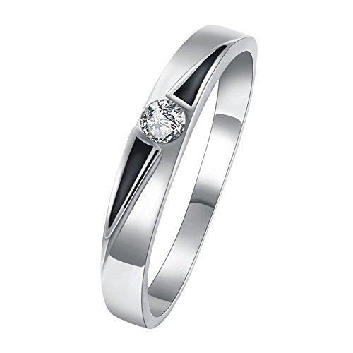 Epinki donna rotondo zirconi cz diamante eternità fidanzamento fede nuziale anello taglia 20 accessori da uomo