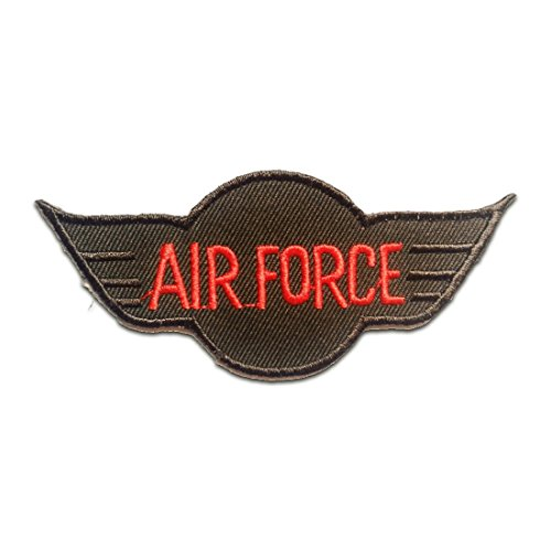 Air Force Applique (AIR FORCE Army Patch ''10.0 x 4.4 cm'' - Aufnäher Aufbügler Applikation Applique Bügelbilder Flicken Embroidered Iron on Patches)