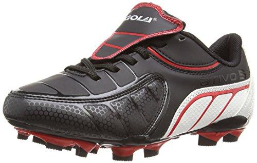 Gola Onslaught Blade, Scarpe da Calcio per Ragazzi, Colore Nero (Black/Red/White), Taglia 38 EU (5 UK)