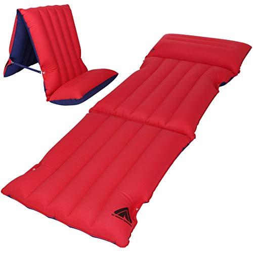 10T Ruby Sit & Lie 1 Mann Luftbett Baumwoll-Matratze 195x70 cm Sitz-Liege Luftmatratze Campingmatte