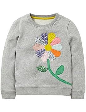 Kaily Mädchen's Süß Sweat Shirt Cartoon T-shirt Langarmshirt