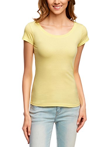 oodji Ultra Women's Basic Cotton T-Shirt (Pack of 2)