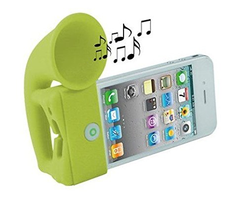 Smartfish Portable iHorn Stand Holder amplifier Speaker for iPhone SE/4/4S/5/5S/5C Green  available at amazon for Rs.199