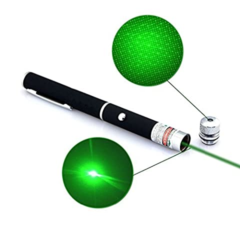 BPFY® - TOP VENTE - Stylot laser de presentation powerpoint astronomie VERT Pointeur pointer metal format Stylot laser tres puissant 2Mw - Lentille de derniere generation avec embout multi-points