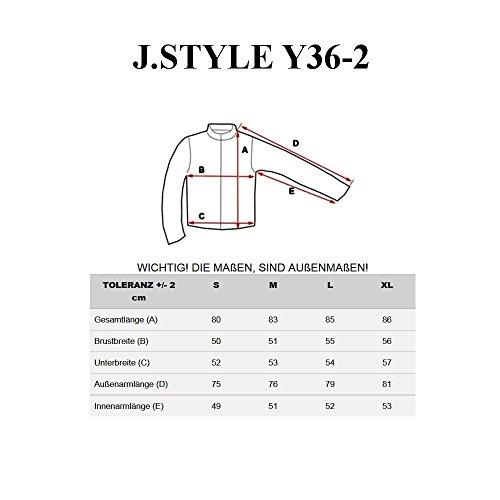 BOLF �?Felpa con cappuccio �?Con cerniera �?Sweat-shirt �?J.STYLE Y36-2 �?Uomo Anthracite