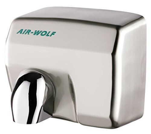 AIR-WOLF Händetrockner E 401, Der Klassiker, Stahl gebürstet, Serie E
