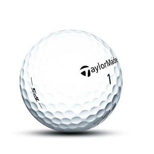 TaylorMade TP5 Bolas de Golf, Unisex Adulto, Blanco, Docena