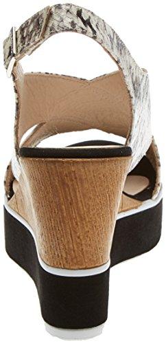 Gadea 41065, Sandales Bout Ouvert Femme Multicolore (Whips Naturalante Negro)