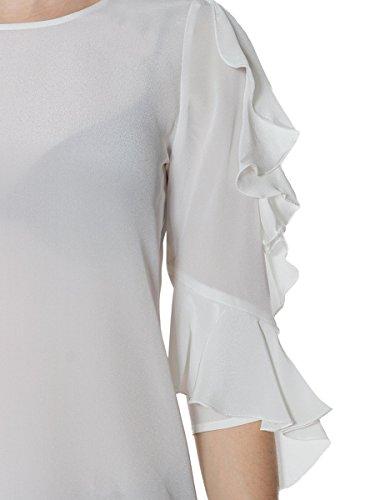 Pinko Blusa Donna Crepe de Chine Spring/Summer 2018 MainApps E00 (white)