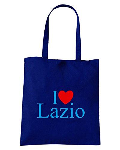 T-Shirtshock - Borsa Shopping TLOVE0081 i love heart lazio Blu Navy