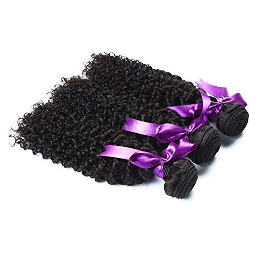 Natürliche Haarteile Malaysisches verworrenes lockiges Haar 3 Bündel-Angebote Nicht Remy Menschenhaar-Webart-Verlängerungs-natürliche Schwarze Menschenhaar-Perücke Perücken (Length : 22 22 22) - Malaysische Natürliche