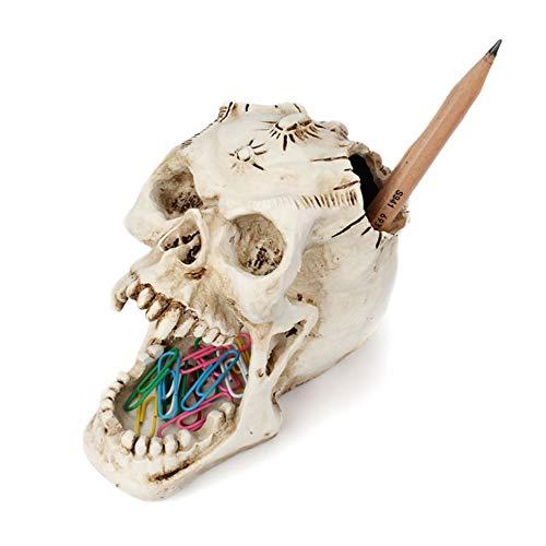PURROMM Makeup Schmuck Lagerung Bleistifthalter Vampir öffnen große Mund weiße Knochen feine Hausgescheitt-Ornamente Halloween