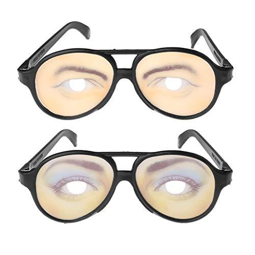 Weishazi Crazy Eyes Brille, lustige Formen, wechselnde Farbtöne für Halloween, Party, Scherzgeschenk 2