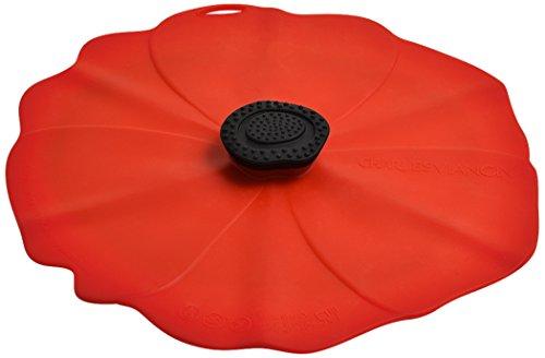 Charles viancin 2902eu - coperchio a forma di papavero, in silicone, Ø 23 cm, colore: rosso