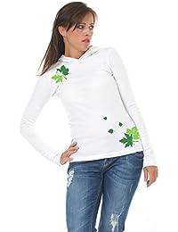3 Elfen - chemise magie feuille à capuchon à manches longues