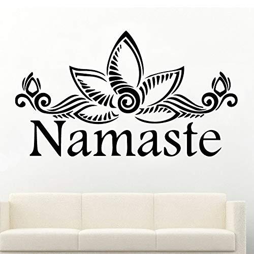 Abnehmbare Namaste Tapete Dekoration Wandaufkleber Für Kinderzimmer Wohnkultur Dekoration Zubehör Weiß M 30 cm X 56 cm