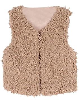 Babykleidung,Sannysis Kinder Baby Mädchen Herbst Winter Faux Pelz Weste Dickmantel Warm Outwear Kleidung(3-8Jahre...