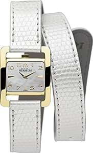 Michel Herbelin 17037/P19BLA Montre bracelet Femme, Cuir, couleur: blanc