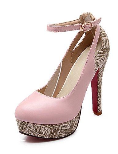 WSS 2016 chaussures vachette / cuir des femmes chunky bottes / gladiator / confort / combat / nouveauté / styles / bout pointu / pink-us9 / eu40 / uk7 / cn41