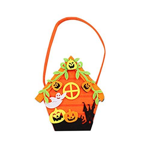 Kostüm Tauchen Katze - Allegorly Halloween-Süßes sonst gibt's Saures Tragetaschen - Wiederverwendbare Süßigkeit-Einkaufstüte-Halloween-Partei-Bevorzugungs-Geschenk-Taschen für Kinder, Kürbis, Schwarze Katze, Hexe