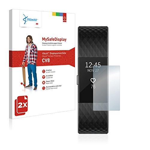 Vikuiti 2X Displayschutzfolie CV8 von 3M für Fitbit Charge 2 Schutzfolie Folie