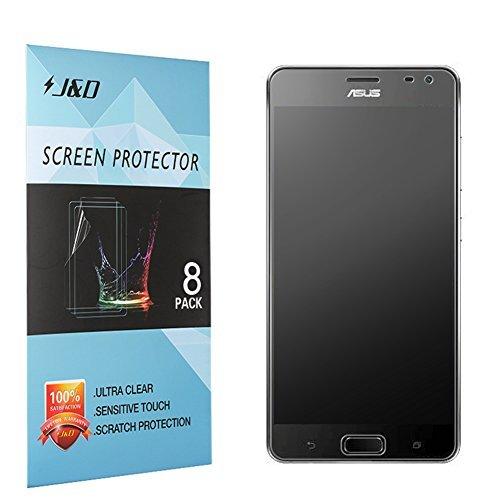 [8er Pack] ZenFone AR Bildschirmschutzfolie, J und D [Blendfreie] [Anti-Fingerprint] Premium Folie Matt Shield Bildschirmschutzfolie für ASUS ZenFone AR, 8 Packs