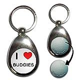 I Love Heart Budgies - Golf Ball Marker Key Ring