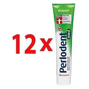 Perlodent med Kräuter Zahncreme 125 ml, 12er Pack(12x125 ml)