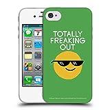 Head Case Designs Offizielle David Olenick Farbige Gefrorene Gläser Gefühle Soft Gel Hülle für iPhone 4 / iPhone 4S