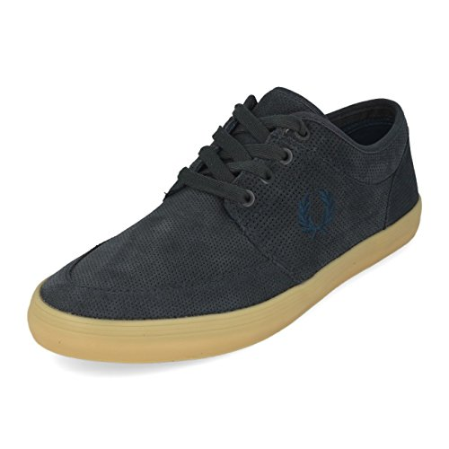 Fred Perry Stratford Perf Suede Graphite 47