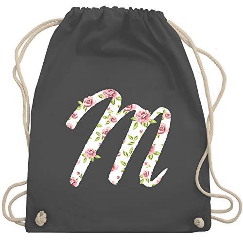 Anfangsbuchstaben - M Rosen - Unisize - Dunkelgrau - WM110 - Turnbeutel & Gym Bag -